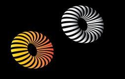 Formas abstratas do círculo 3D Fotografia de Stock Royalty Free
