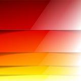 Formas amarillas, anaranjadas y rojas abstractas del rectángulo Foto de archivo