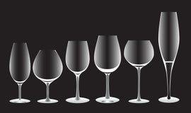 Formas brancas dos vidros Imagem de Stock