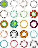 Formas circulares com objetos ilustração do vetor