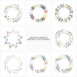 Formas coloridas abstractas del punto Foto de archivo