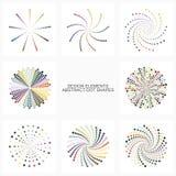 Formas coloridas abstractas del punto Fotos de archivo