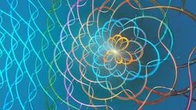 Formas coloridas abstractas que hacen girar como un carrusel o en un caleidoscopio Arriba detallado metrajes