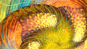 Formas coloridas abstratas que giram como um carrossel Altamente detalhado vídeos de arquivo