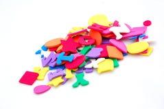 Formas coloridas da espuma Foto de Stock Royalty Free