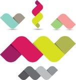 Formas coloridas de la cinta Fotografía de archivo