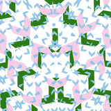 Formas coloridas del verde azul rosado Imagen de archivo