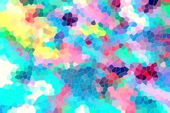 Formas coloridas, fundo brincalhão e contrastes ilustração stock