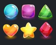 Formas coloridas lustrosas brilhantes frescas Fotografia de Stock