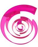 Formas cor-de-rosa abstratas Ilustração Stock