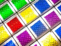 Formas cuadradas con la luz coloreada Foto de archivo libre de regalías