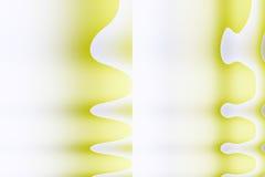 Formas cubistas amarelas abstratas Imagens de Stock