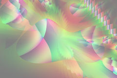 Formas cubistas azuis e verdes vermelhas abstratas do fractal Foto de Stock Royalty Free