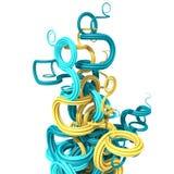 formas curvadas del extracto 3d Imagen de archivo