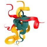 formas curvadas del extracto 3d Imágenes de archivo libres de regalías