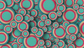 formas 3D circulares no fundo liso Imagem de Stock
