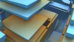 formas 3D geométricas coloridas abstratas Imagens de Stock