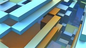 formas 3D geométricas coloridas abstratas Foto de Stock Royalty Free