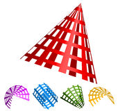 formas 3d gridded abstratas Imagem de Stock