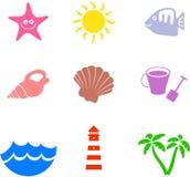 Formas da praia ilustração do vetor