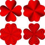 Formas de corazón Imágenes de archivo libres de regalías