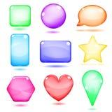 Formas de cristal coloreadas opacas Imágenes de archivo libres de regalías