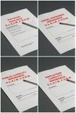 Formas de demanda de seguro imagen de archivo libre de regalías