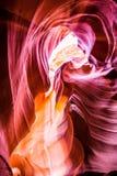 Formas de fluxo geológicos da garganta do antílope Imagens de Stock