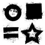 Formas de Grunge Fotografia de Stock