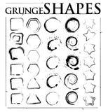 Formas de Grunge Imagens de Stock