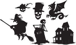 Formas de Halloween Imagens de Stock Royalty Free