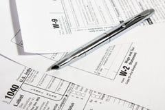 Formas de impuesto Fotos de archivo