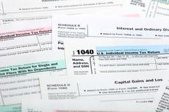 Formas de impuesto. Fotografía de archivo libre de regalías