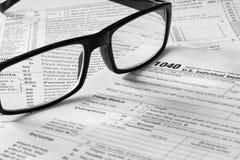 Formas de impuesto Imágenes de archivo libres de regalías