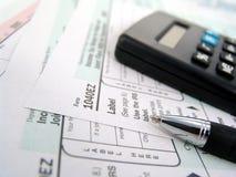 Formas de impuesto fotografía de archivo libre de regalías