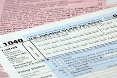 Formas de impuesto foto de archivo libre de regalías