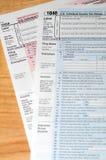 Formas de impuesto Fotografía de archivo