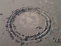 Formas de la arena Foto de archivo