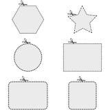 Formas de la cupón ilustración del vector