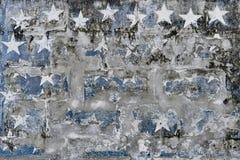 Formas de la estrella en la pared sucia del yeso Fotografía de archivo libre de regalías