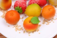 Formas de la fruta del mazapán Imágenes de archivo libres de regalías