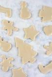 Formas de la galleta de la Navidad Imagen de archivo
