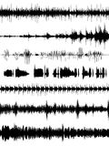 Formas de la onda acústica Foto de archivo libre de regalías