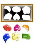 Formas de la tarjeta Foto de archivo