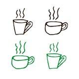 Formas de la taza de Coffe Fotos de archivo libres de regalías
