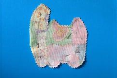 Formas de las telas de Scrapbooking Fotografía de archivo libre de regalías
