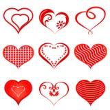 Formas de los corazones Fotografía de archivo libre de regalías