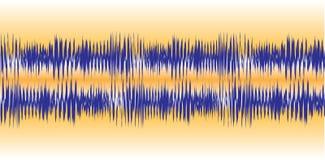 Formas de onda audio Fotos de Stock Royalty Free