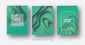 Formas de onda del corte del papel La papiroflexia acodada de la curva diseña para las presentaciones del negocio, aviadores, car Fotos de archivo