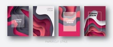 Formas de onda del corte del papel La papiroflexia acodada de la curva diseña para las presentaciones del negocio, aviadores, car Imagen de archivo libre de regalías